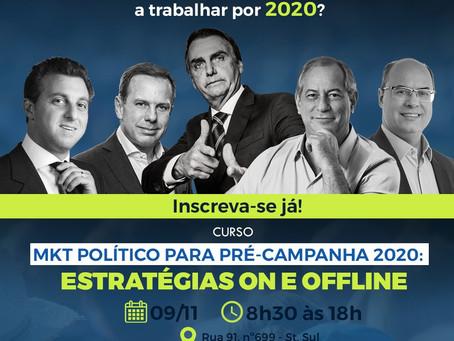 MKT POLÍTICO PARA PRÉ-CAMPANHA 2020: ESTRATÉGIAS ON E OFFLINE