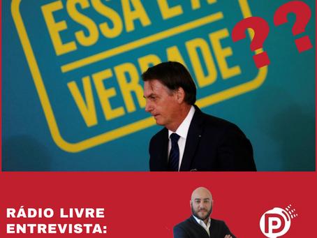 Entrevista Rádio Difusora Goiânia: As mentiras do presidente e o risco para a Democracia.