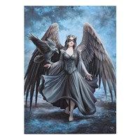 Ange Noir et Corbeau par Anne Stokes  (50x70cm)