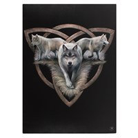 Trio de Loups par Anne Stokes  (50x70cm)