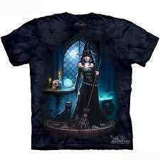 Sorcière & Chat T-Shirt Bleu marine