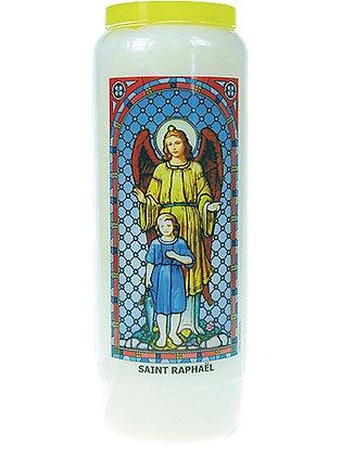PROBLÈMES DE SANTÉ  *Saint Raphaël Archange* Bougie de Neuvaine (9 jours)
