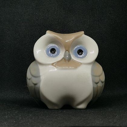 Magnifique Hibou en porcelaine