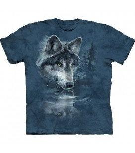 Loup Reflet T-Shirt bleu marbré