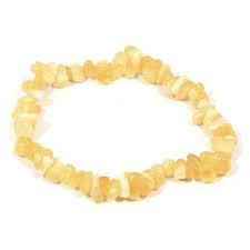 **** CALCITE  JAUNE **** Bracelet chips