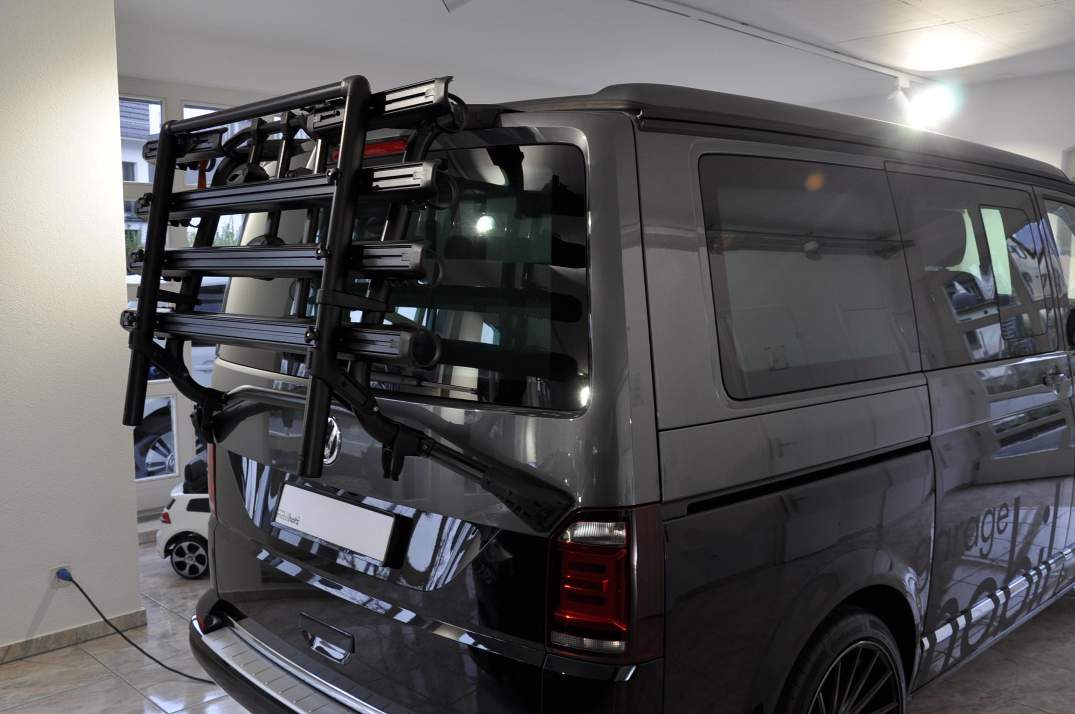 VW T6 Fahrradträger für Heckklappe schwa