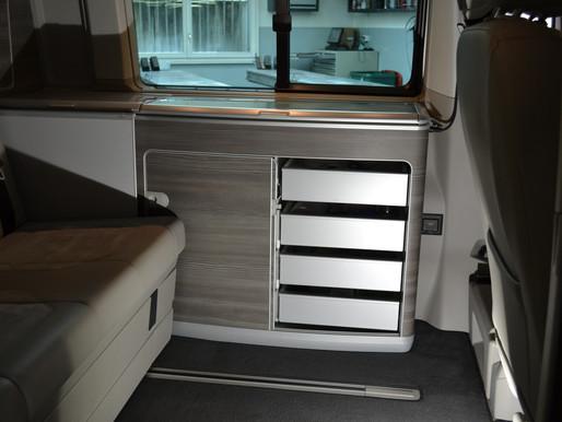 VW T6 T5 California Ocean, Schubladen für den Küchenschrank nachrüsten. Zubehör VW California