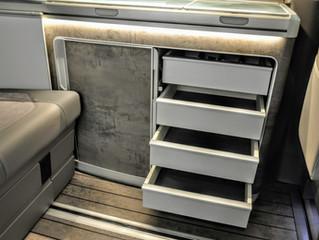 VW T6.1 T5 California Ocean, Schubladen für den Küchenschrank nachrüsten | Zubehör VW California
