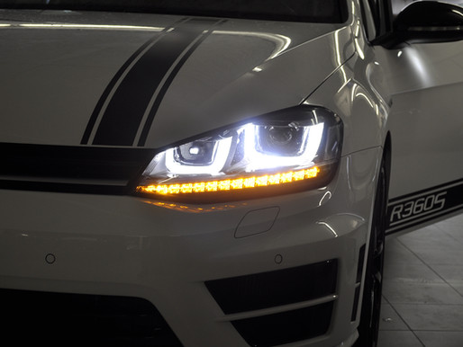 VW Golf 7 / VW Golf VII, Blinker vorne permanent gedimmt codieren, Blinker als Positionsleuchten fre