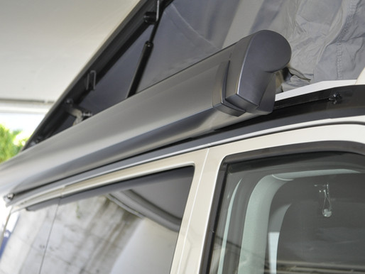 Original Markise für VW T6 und VW T5 kaufen | Nachrüsten für CHF 980.- inkl. allen Montageteilen und