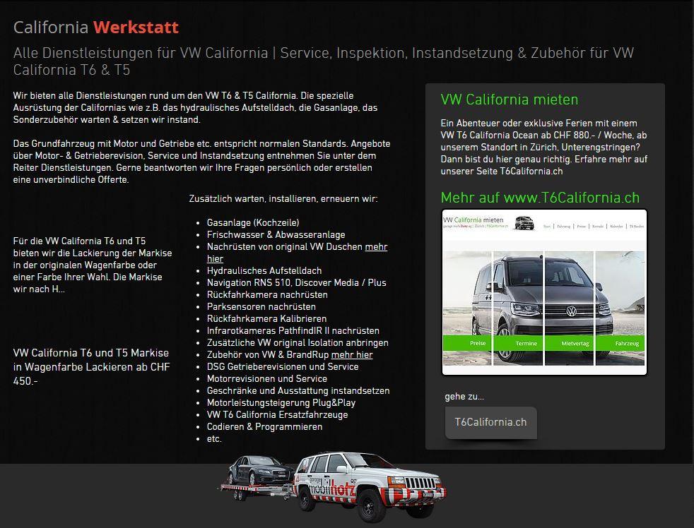 Werkstatt für VW California