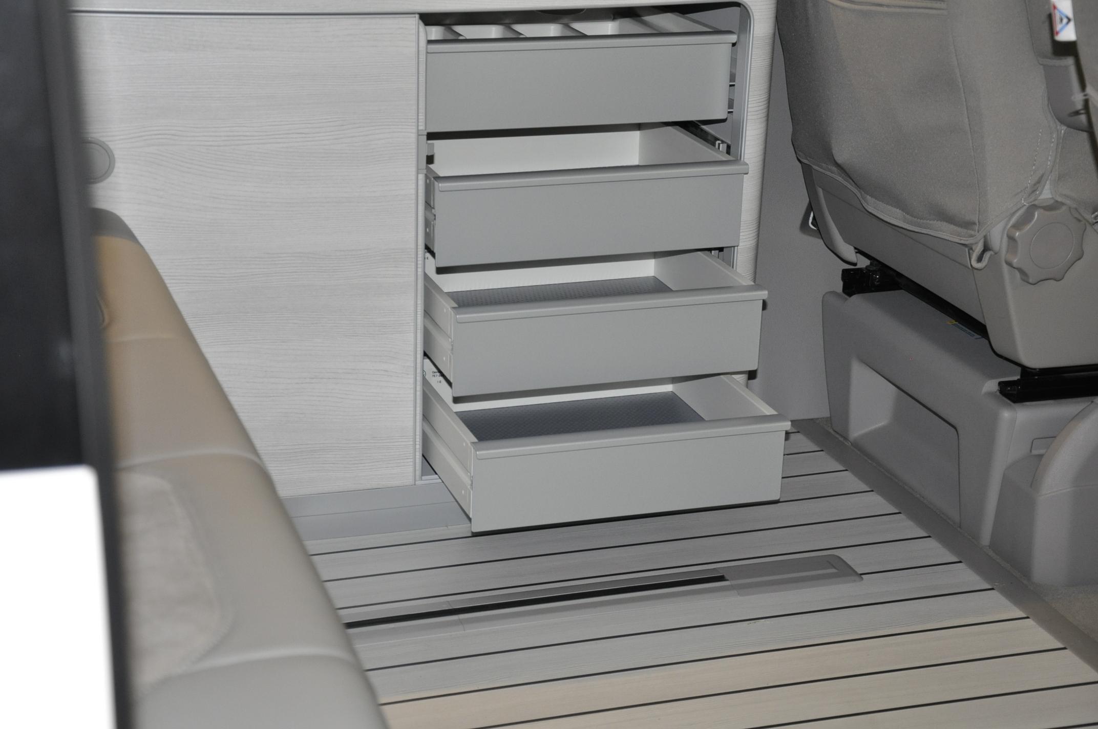 Schubladen VW T6 white wood