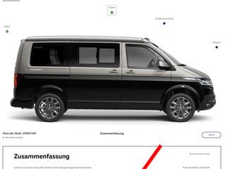 Der CH Konfiguratort für den VW T6.1 ist nun online...