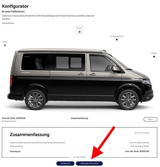 Anleitung Konfiguration VW T6.1 Californ