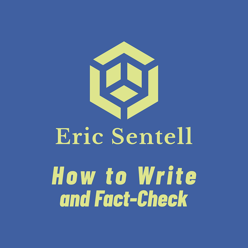 Logo for Eric Sentell, How to Write and Fact-Check, EricSentell.com