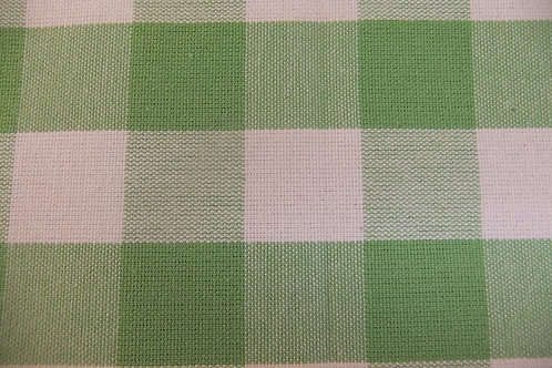 Apple Green Check Fabric