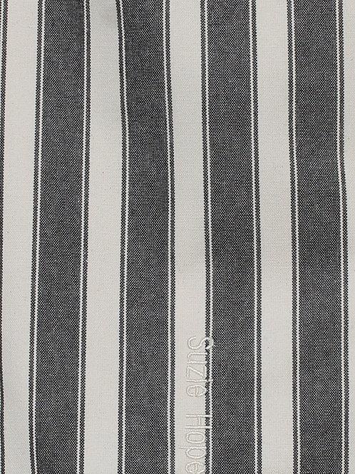 Black Block Stripe Fabric