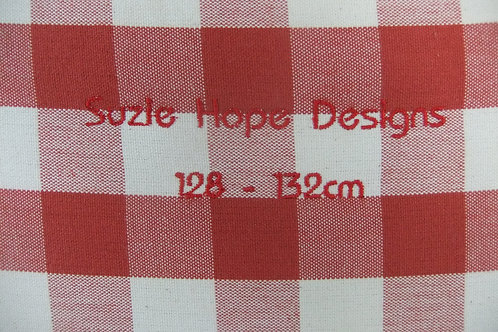 Red Check Cover 128 - 132cm