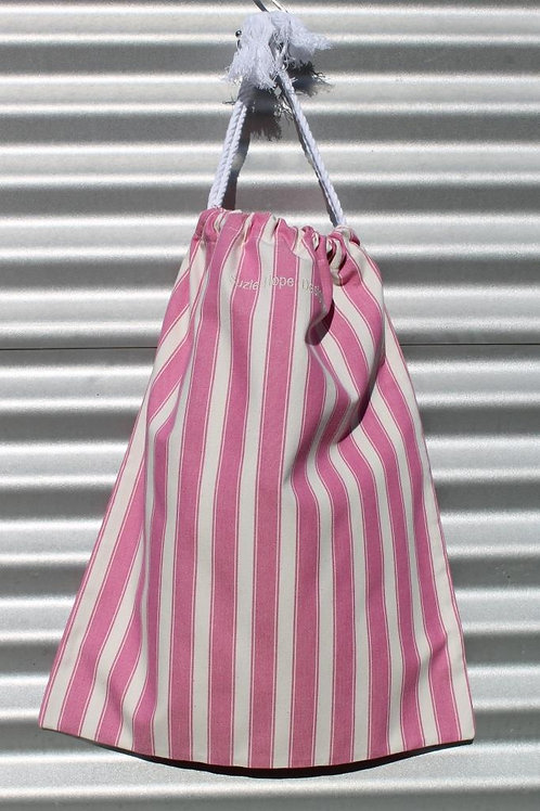 Magenta Stripe Laundry Bag