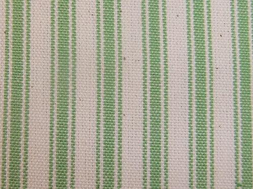 Apple Green Ticking Stripe Fabric