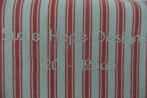 Red Ticking Cover 128 - 132cm