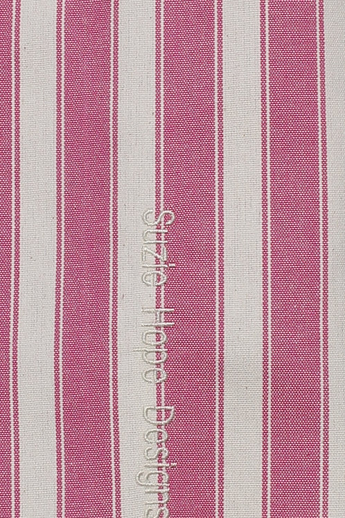 Magenta  Block Stripe Fabric