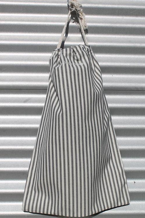 Black Ticking Laundry Bag