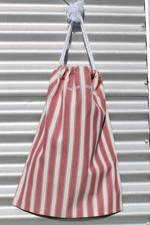 Red Stripe Laundry Bag