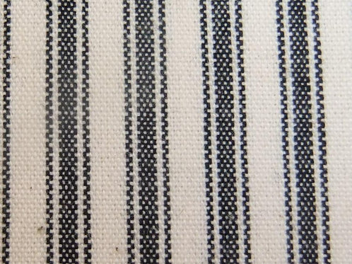 Black Ticking Stripe Fabric