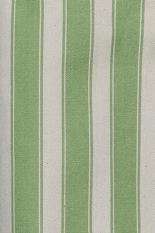 Apple Green Block Stripe Fabric