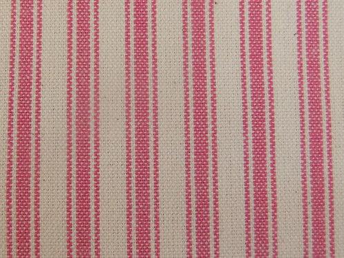 Magenta Ticking Stripe Fabric