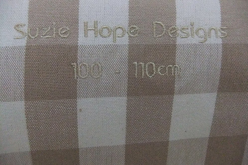 Mocha Check/Stripe Reversible Cover 128 - 132cm