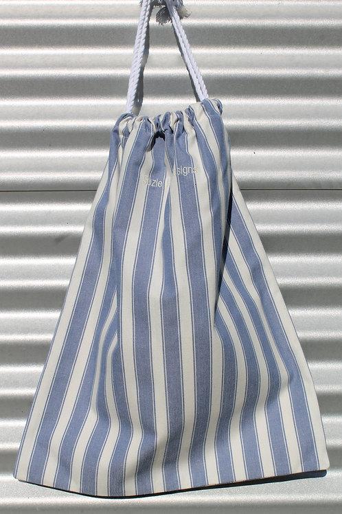 Blue Stripe Laundry Bag