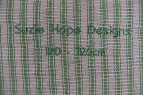 Apple Green Ticking Cover 95cm