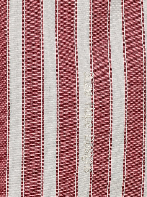 Red Block Stripe Fabric