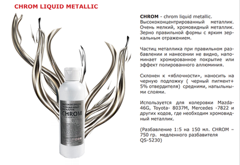 CROM Liquid metallic