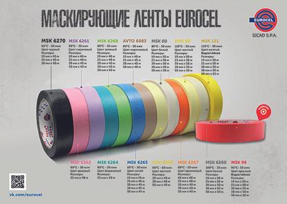 Любые малярные работы на высоком уровне c цветными лентами от Eurocel!