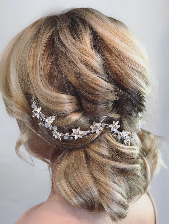 Blonde Extensions + Wedding Day Bridal H