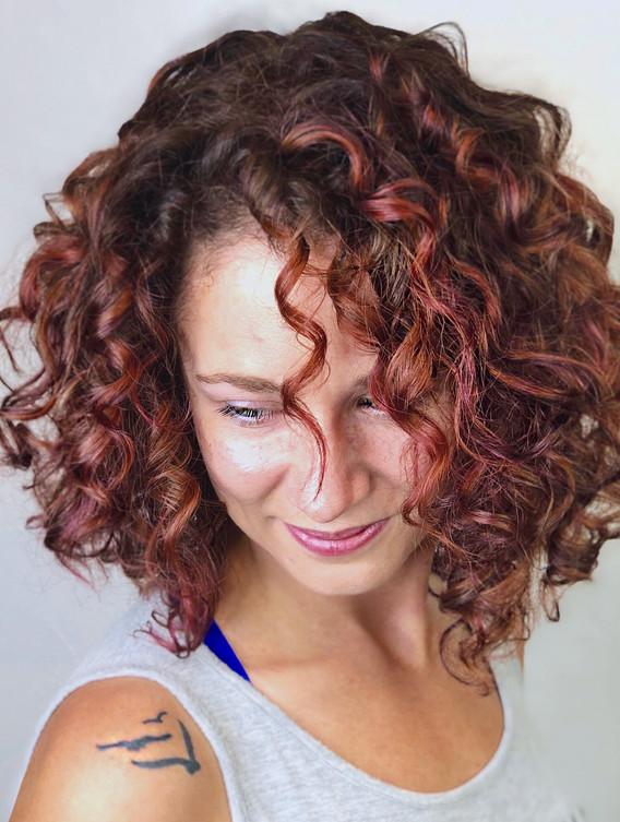 Rose Pintura Highlights + Stacked Curls