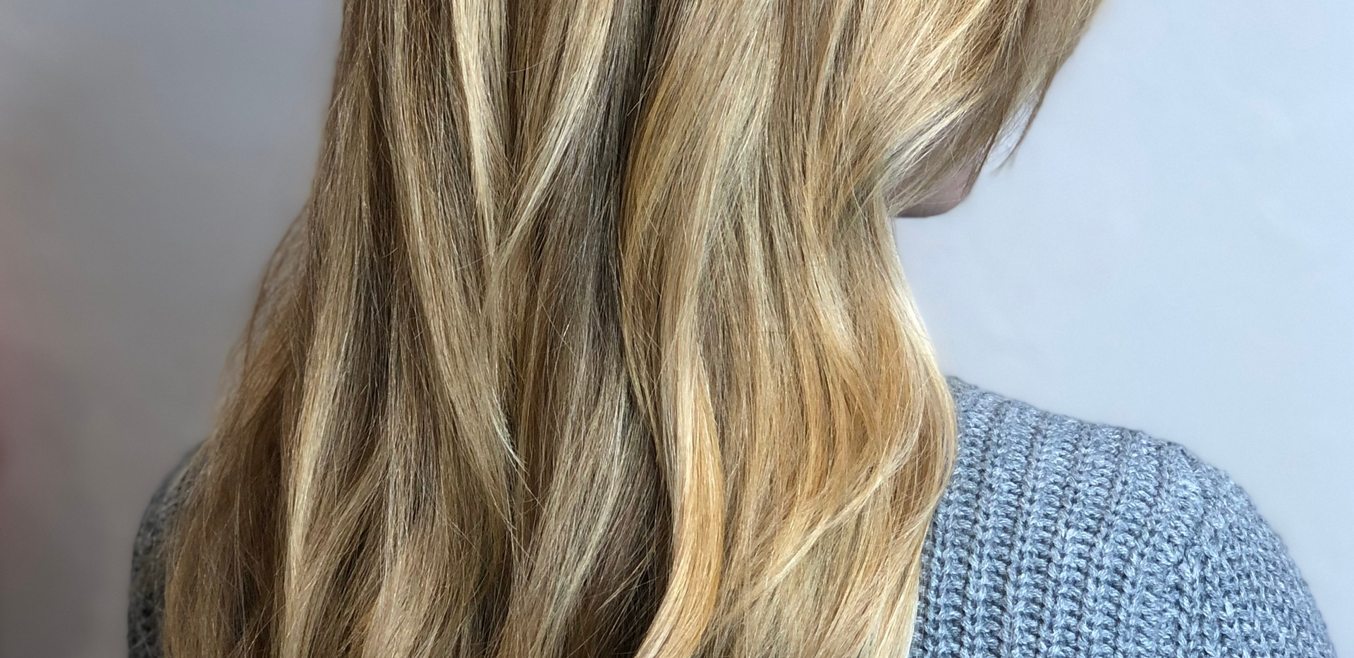 Golden Blonde Balayage Extensions