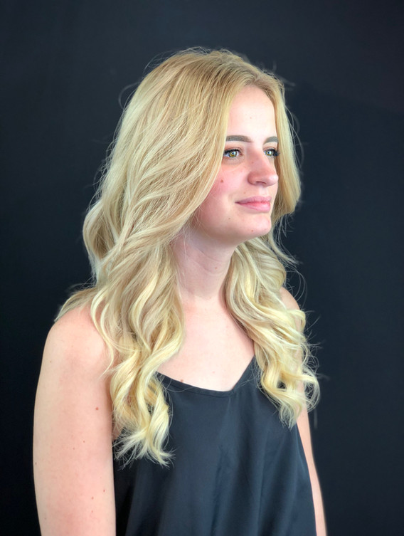 Long Beach Waves Blonde Halo Extensions