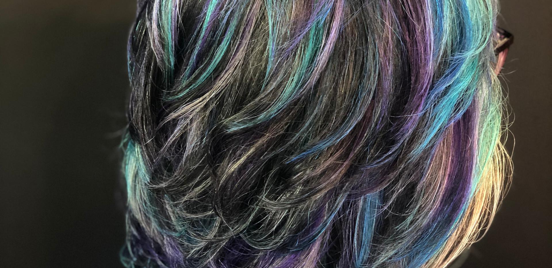 Midi Cut + Purple Teal Fashion Color