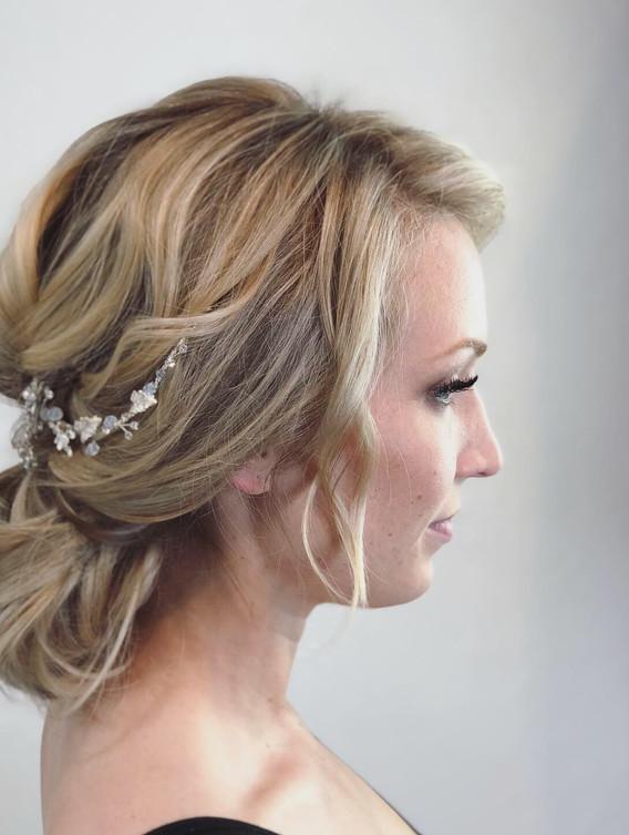 Blonde Extensions + Wedding Day Bridal Hair + Makeup