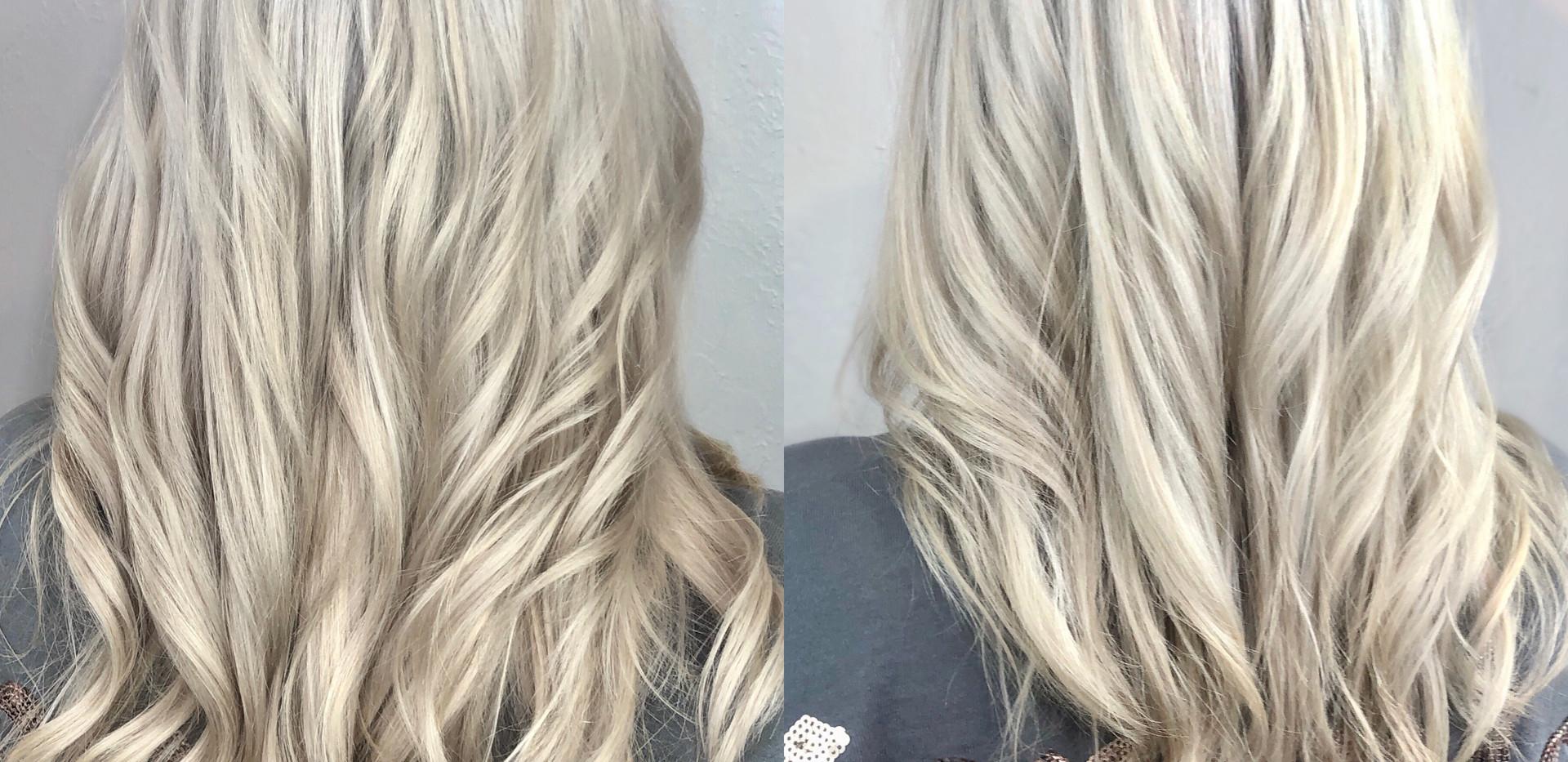 Platinum Blonde Hand Tied Weft Extension