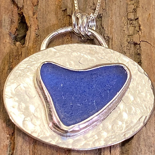 Cobalt Blue Heart Pendant