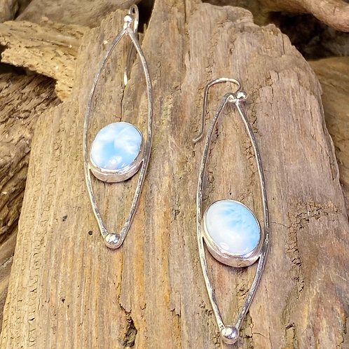 Larimar Statement Earrings