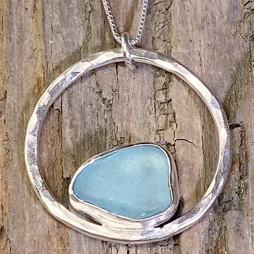 LIght Blue Circle Pendant