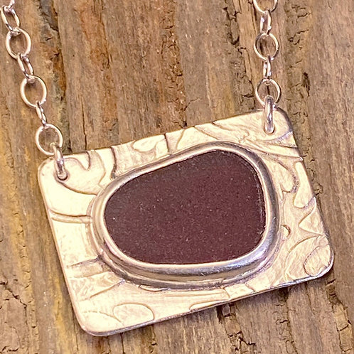 Red Seaglass Necklace
