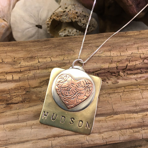 Build-Your-Own Name Necklace with Heart