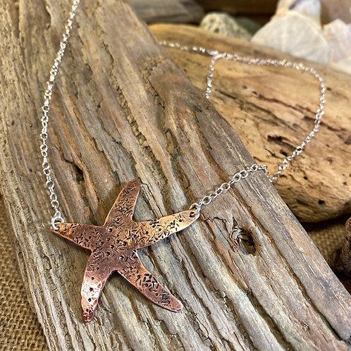Copper Starfish Necklace